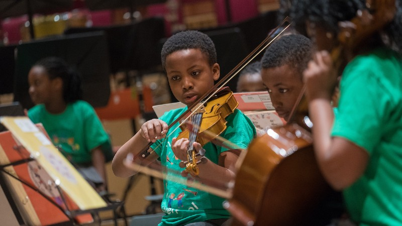 Royal Liverpool Philharmonic In Harmony young boy playing violin