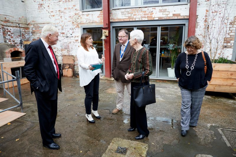 Michael and Jean Oglesby at Cobden Works in Salford